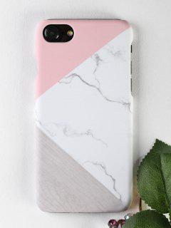Marble Wood Pattern Phone Case For Iphone - White For Iphone 7