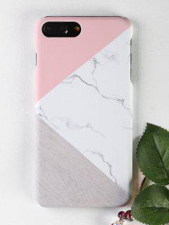 Marble Wood Pattern Phone Case For Iphone - White For Iphone 7 Plus