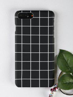 Grid Pattern Phone Case For Iphone - Black For Iphone 7 Plus