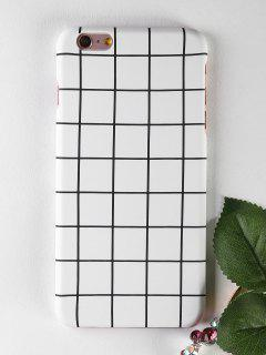 Grid Pattern Phone Case For Iphone - White For Iphone 6 Plus / 6s Plus