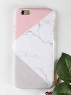 Marble Wood Pattern Phone Case For Iphone - White For Iphone 6 / 6s
