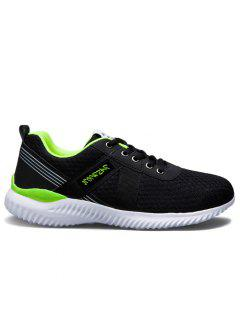 Mesh Breathable Lace Up Sneakers - Neon Green 40