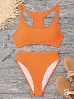 High Cut Racerback Sporty Bikini - Orange S