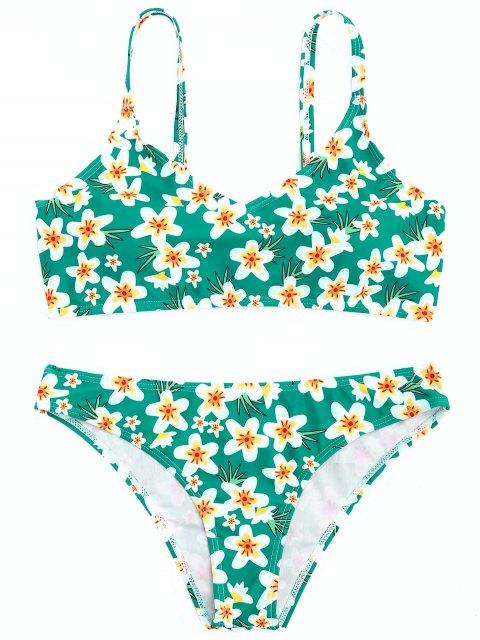 GepolstertBlumen Bikini Set - Grün S Mobile