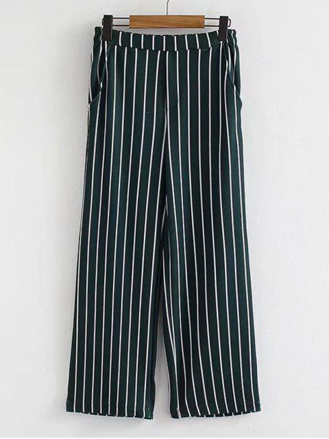 Pantalones anchos de la pierna de los altos de Waisted de la cintura - Raya M Mobile
