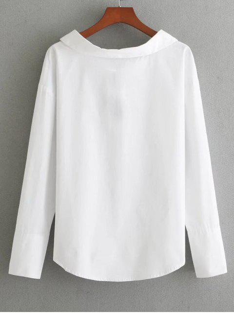 Blusa de manga larga - Blanco L Mobile