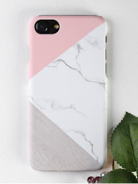 women's Marble Wood Pattern Phone Case For Iphone - WHITE FOR IPHONE 7 Mobile