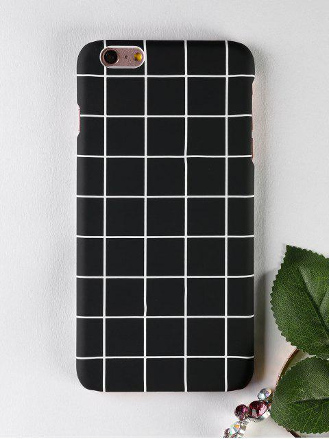 Grid Pattern teléfono caso para Iphone - Negro PARA IPHONE 6 PLUS / 6S PLUS Mobile