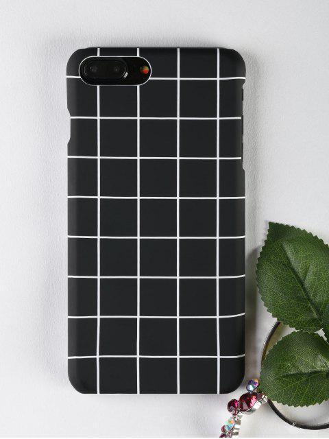 Étui de téléphone Grid Pattern pour Iphone - Noir POUR IPHONE 7 PLUS Mobile