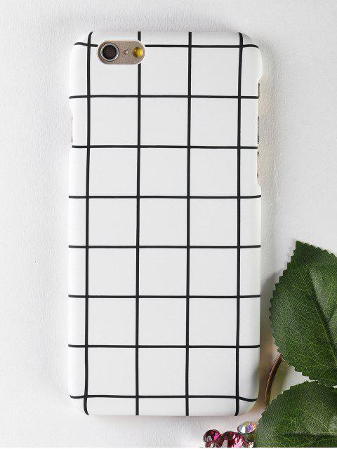 unique Grid Pattern Phone Case For Iphone - WHITE FOR IPHONE 6 / 6S Mobile