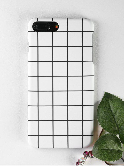 buy Grid Pattern Phone Case For Iphone - WHITE FOR IPHONE 7 PLUS Mobile