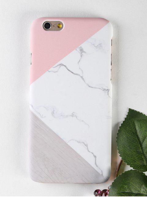 De mármol de madera patrón caso de teléfono para iphone - Blanco PARA IPHONE 6 / 6S Mobile