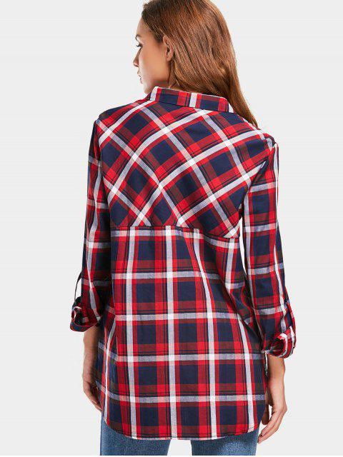 buy Button Up Tartan Pocket Shirt - CHECKED M Mobile