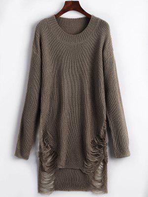 Zerrissenes Mini Pullover Kleid