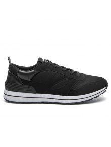 شبكة اللون كتلة أدنى أحذية رياضية - أسود 39