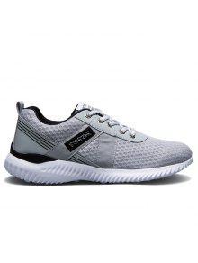 شبكة تنفس الدانتيل يصل أحذية رياضية - الرمادي العميق 38