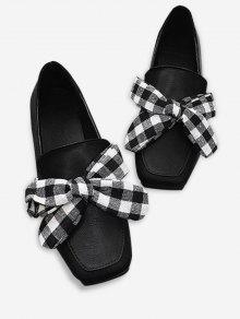الانزلاق على بونوت ساحة اصبع القدم أحذية مسطحة - أسود 36