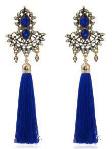 Pendientes De Imitación De Imitación De Zafiro Borla - Azul