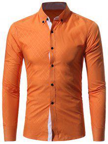 طوق طوق رومبويدس نمط قميص - البرتقالي 2xl