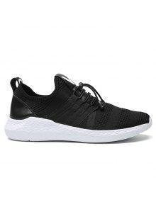 المشارب شبكة أحذية رياضية - أسود أبيض 44