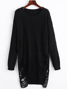 Mini Robe Pull Détresse - Noir Xl