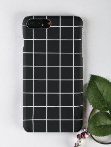 نمط الشبكة حالة الهاتف لفون - أسود ل Iphone 7 Plus