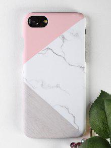 الرخام نمط الخشب حالة الهاتف لفون - أبيض على اي فون 7