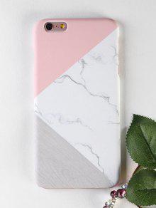 الرخام نمط الخشب حالة الهاتف لفون - أبيض آيفون 6 Plus / 6s Plus
