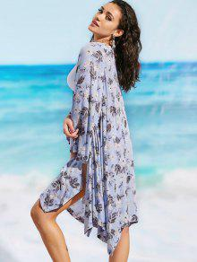 91070c47d2 21% OFF] 2019 Long Sleeve Floral Beach Kimono In FLORAL | ZAFUL