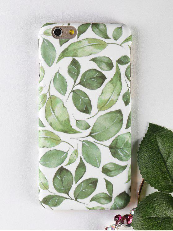 ladies Leaf Pattern Phone Case For Iphone - GREEN FOR IPHONE 6 / 6S