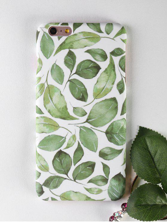 lady Leaf Pattern Phone Case For Iphone - GREEN FOR IPHONE 6 PLUS / 6S PLUS