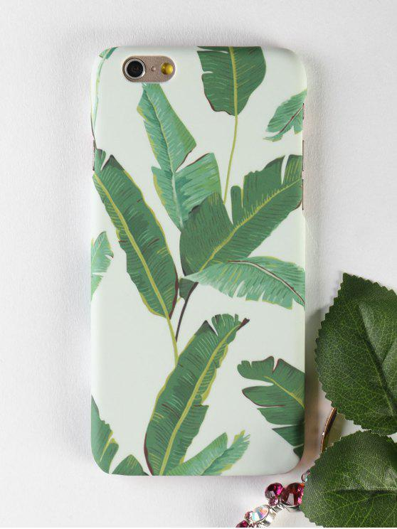 Folha de Palm Leaf Pattern Case para Iphone - GREEN Para IPHONE 6 / 6S