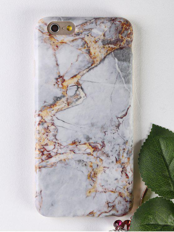 chic Marble Pattern Soft Phone Case For Iphone - GRAY FOR IPHONE 6 / 6S