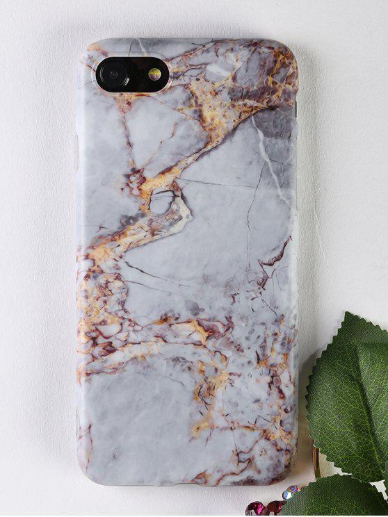 Marble Pattern Soft Case Teléfono para Iphone - Gris Por IPHONE 7