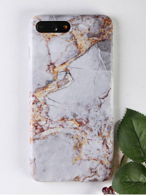 sale Marble Pattern Soft Phone Case For Iphone - GRAY FOR IPHONE 7 PLUS