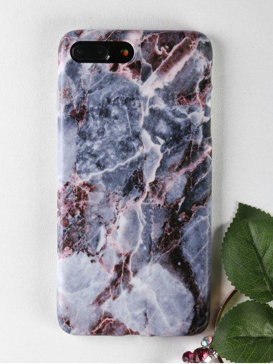Caso de mármol suave del teléfono para Iphone - Gris para iPhone 7 PLUS