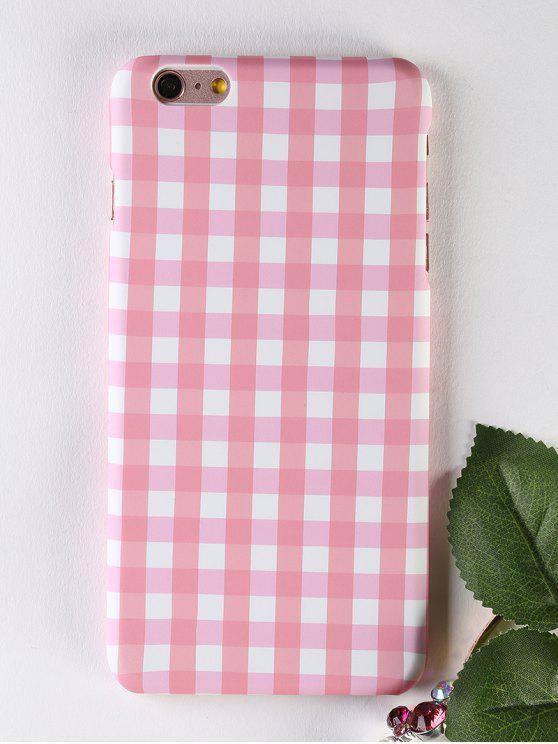 new Plaid Pattern Phone Case For Iphone - PINK FOR IPHONE 6 PLUS / 6S PLUS