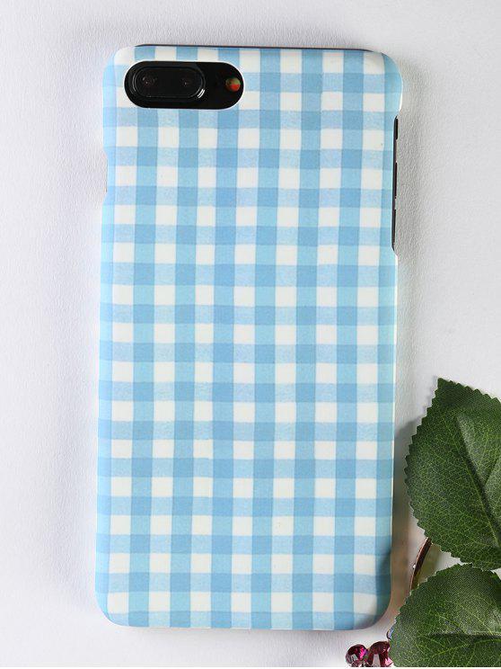 Caso de telefone com padrão de xadrez para Iphone - Azul claro PARA IPHONE 7 PLUS