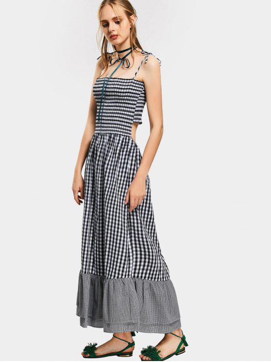 5731e81e17c 25% OFF  2019 Cut Out Checked Cami Maxi Dress In CHECKED