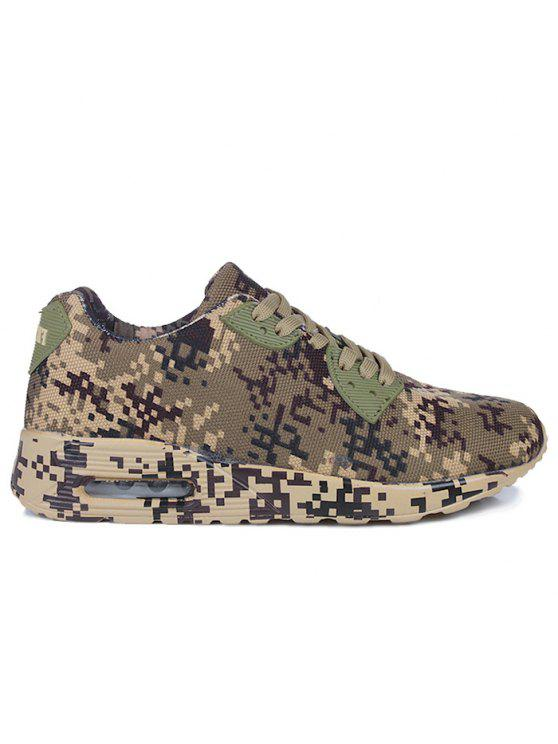 chic Breathable Camouflage Casual Shoes - BROWN 40
