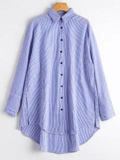 Camisa Floja De Las Rayas Flojas Alta - Raya L