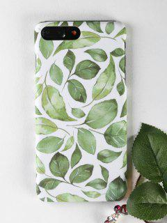 Leaf Pattern Phone Case For Iphone - Green For Iphone 7 Plus