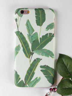Étui De Téléphone à Motifs Palm Leaf Pour Iphone - Vert Pour Iphone 6 Plus / 6s Plus