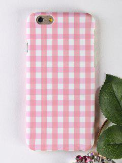 Plaid Pattern Phone Case For Iphone - Pink For Iphone 6 / 6s