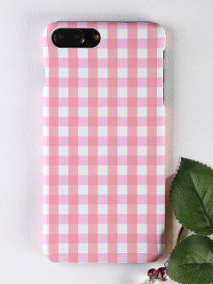 Plaid Pattern Phone Case For Iphone - Pink For Iphone 7 Plus