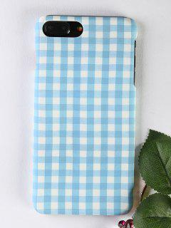 Plaid Pattern Phone Case For Iphone - Light Blue For Iphone 7 Plus