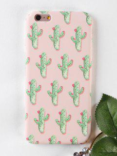 Cactus Pattern Phone Case For Iphone - Papaya For Iphone 6 Plus / 6s Plus