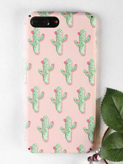 Cactus Pattern Phone Case For Iphone - Papaya For Iphone 7 Plus