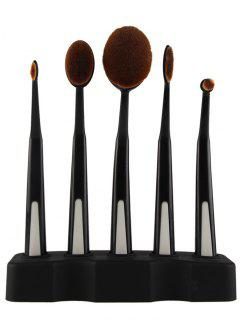 5 Pieces Toothbrush Brushes With Holder - Black