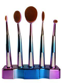 5 Pcs Toothbrush Shape Brushes Set - Blue